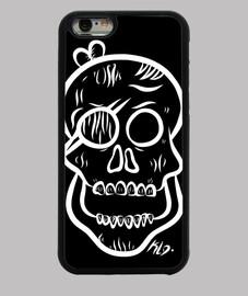 custodia cover iphone 6, bianco teschio
