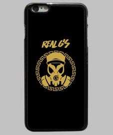 custodia cover iphone 6 plus, nera reale g