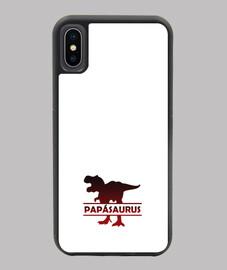 custodia papasaurus per padre dinosauro cover iphone xo xs