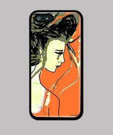 custodia smartphone klimt arancione