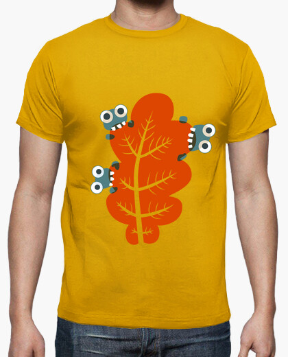 Cute Bugs Eat Autumn Leaves t-shirt