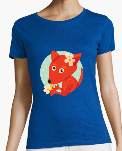 Cute Fox And Flowers t-shirt