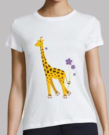 cute funny skating cartoon giraffe