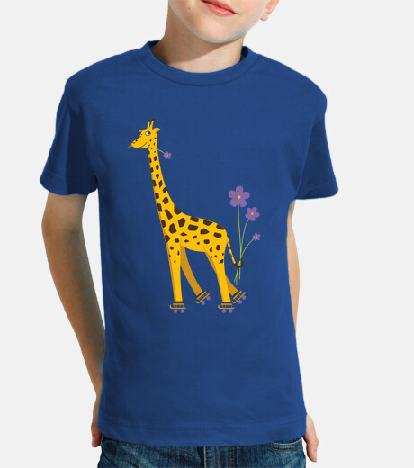 Cute Funny Skating Cartoon Giraffe