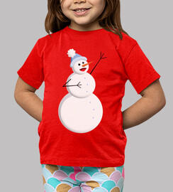 Cute Happy Singing Snowman