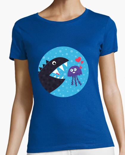 Cute kawaii jellyfish in love t-shirt