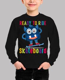 cute monster skateboard kids clothing