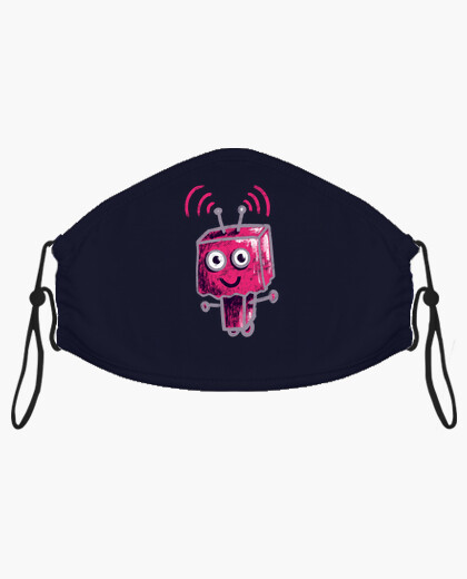 Cute Pink Robot With Paper Bag Head mask