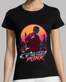 cyberpunk biker camisa para mujer