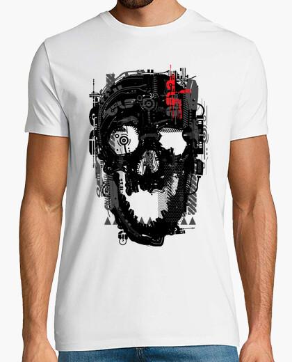 Tee-shirt cyborg crâne