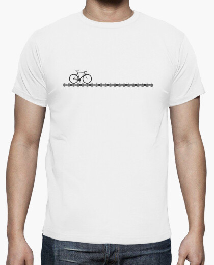 Cycling t shirt with bike and chain t-shirt