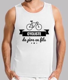 Cycliste de père en fils