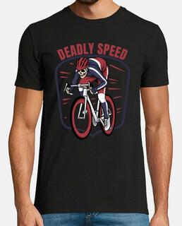 cycliste squelette vitesse mortelle