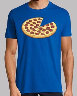 dad pizza - man, short manga , royal blue, extra quality