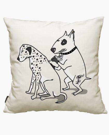 Dalmatian tattoo cushion cover