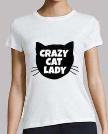 dame folle de chat
