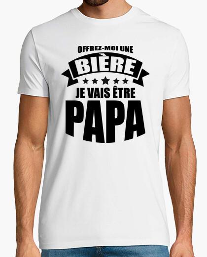 Camiseta dame una cerveza seré un papá
