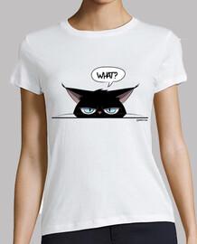 damen t-shirt mürrischen schwarzen katzenfrauen