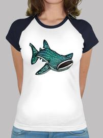 dames baleines de requins baseball