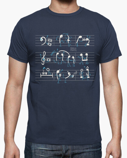Dancing pentagram notes t-shirt