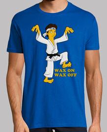 Daniel Larusso Karate kid waxon Waxoff cine  camisetas friki