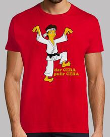 Daniel Larusso Karate kid waxon Waxoff cine cera camisetas friki