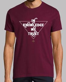 dans la connaissance nous faisons confiance