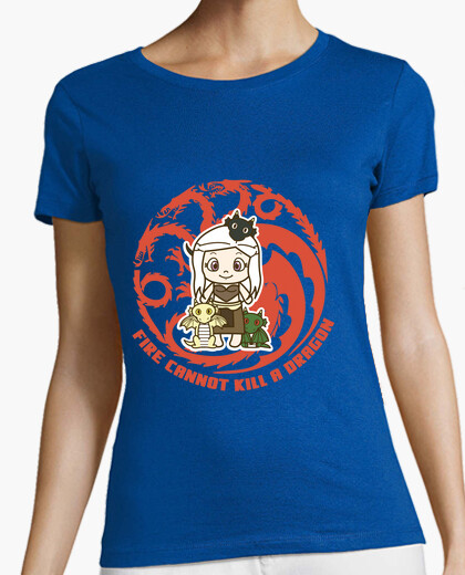 Camiseta Dany and dragons. chica