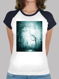 Dark Forest - Camiseta estilo béisbol para chica