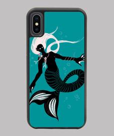 dark mermaid with fishbone necklace