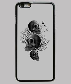 DARK SKULL - Funda iPhone 6 Plus, negra
