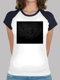 Darkness - Camiseta estilo béisbol para chica