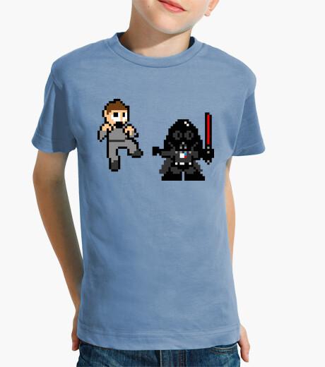 Ropa infantil Darth Vader 8 Bits (Camiseta Niño)