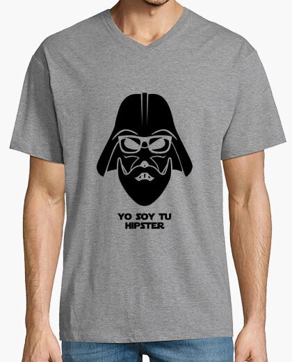 Camiseta Darth Vader hipster negro