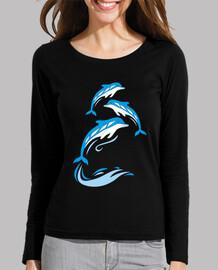 dauphins dans les vagues