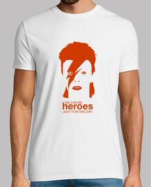 david bowie - heroes, man, mc, orange