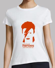 David Bowie - Heroes, mujer, mc, naranja