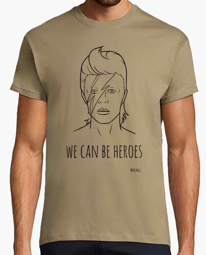 Tee-shirt David Bowie - Nous pouvons être des héros