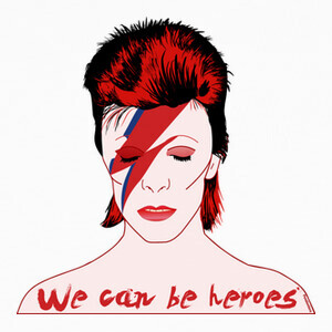 Camisetas David Bowie  We can be heroes