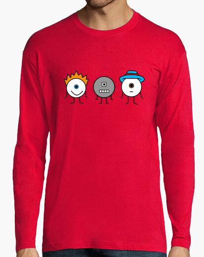 Camiseta Davidete, Robotete y Dominguerete - Manga larga chico