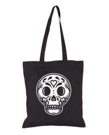 day of the dead skull face design