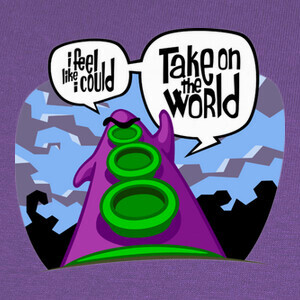 Camisetas Day of the Tentacle (Take on the World)
