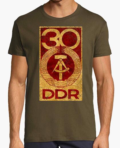 Tee-shirt ddr 30 anniversaire emblème vintage v01