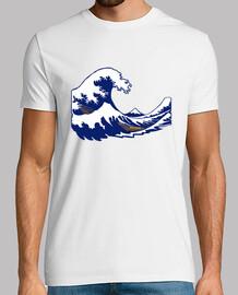 de onda de la onda hokusai fuji impresión