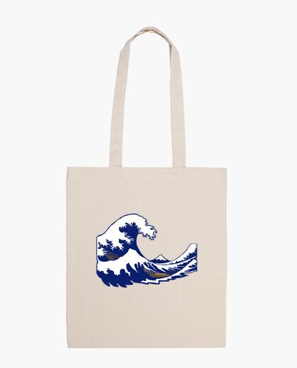 Bolsa de onda de la onda hokusai fuji impresión