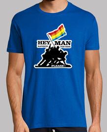 De rosa y bandera de arcoiris