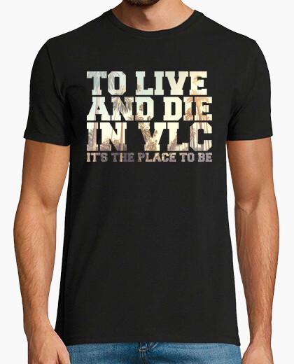Tee-shirt de vivre and die dans valencia - tupac