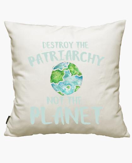 Housse de coussin détruire le patriarchie not la planète
