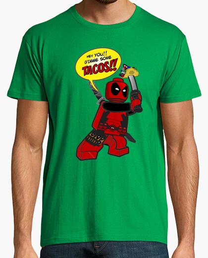 Camiseta Deadpool Tacos verde
