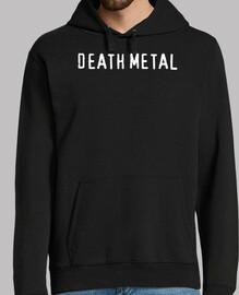 Death metal hoodie, black